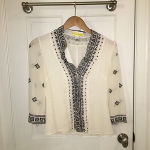 Catherine Malandrino Cream Blouse